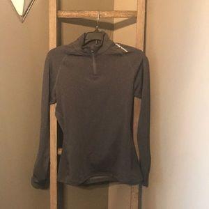 Gray Under Armour quarter zip pullover